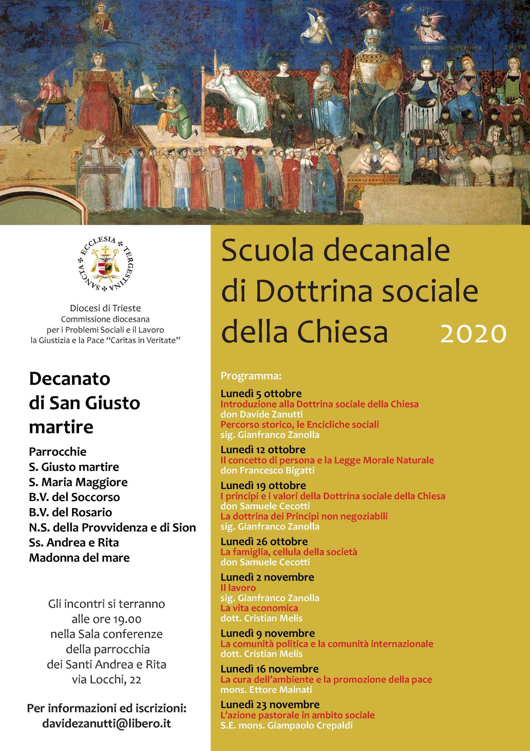 Scuola decanale di Dottrina sociale della Chiesa